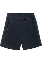 Nlst Cotton Twill Shorts Blue
