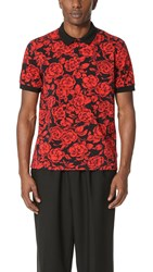 Msgm Floral Polo Red