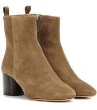 Isabel Marant Deyissa Suede Ankle Boots Brown