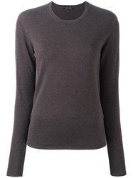 Iris Von Arnim Round Neck Jumper Grey