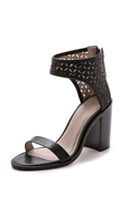 Zimmermann Lattice Sandals Black