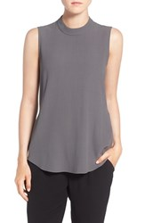 Eileen Fisher Women's Silk Crepe High Neck Sleeveless Blouse
