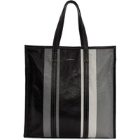 Balenciaga Black And Grey Medium Bazar Shopper Tote