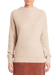 Set Honeycomb Stitch Mockneck Sweater Light Stone