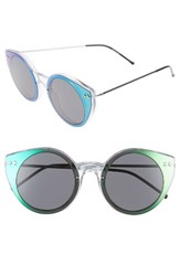 Spitfire Women's Alpha 1 60Mm Mirrored Sunglasses Clear Green Mirror Black Clear Green Mirror Black