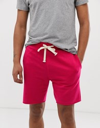 Pull And Bear Jogger Shorts In Bright Pink Pink