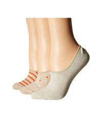 Richer Poorer Bloom No Show 3 Pack Oatmeal Women's No Show Socks Shoes Brown