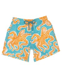 Vilebrequin Orange And Blue Octopussy Swimsuit