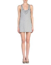 Monica Bianco Short Dresses Light Grey