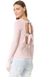 Elizabeth And James Fay Tie Back Long Sleeve Sweater Pale Pink