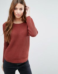 Blend She Cabes Long Sleeved Jumper Madder Brown