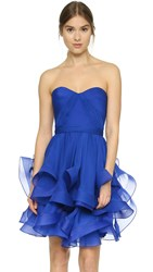 Reem Acra Strapless Dress Royal