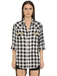 Forte Couture Thelma Check And Lace Shirt