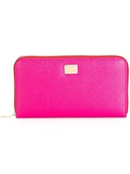 Dolce And Gabbana Dauphine Long Wallet Pink