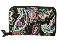 Vera Bradley Turnlock Wallet Kiev Paisley Bill Fold Wallet Multi