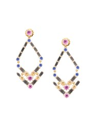 Larkspur And Hawk Caterina Trapezoid Chandelier Earrings Gold