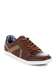 Ben Sherman Paneled Leather Shoes Light Brown
