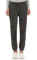Nsf Women's Sayde Cotton Distressed Sweatpants Black