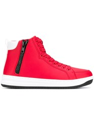 Emporio Armani Ea7 Hi Top Sneakers Red