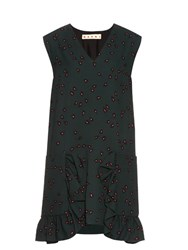 Marni Windfall Teardrop Print Sleeveless Dress Green Multi