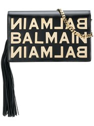 Balmain Logo Plaque Crossbody Black