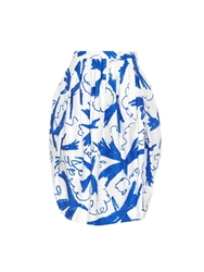 Vivienne Westwood Alien Bird Print Stretch Cotton Skirt