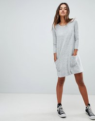 Abercrombie And Fitch Cozy Pocket Front Dress Grey Heather