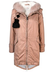 Peuterey Hooded Padded Parka Pink