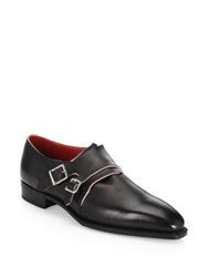 Corthay Arca Double Monk Strap Shoes Black