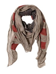 John Varvatos American Flag Silk And Viscose Scarf