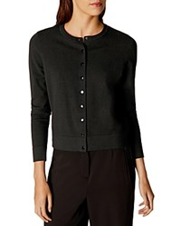 Karen Millen Lace Back Cardigan Black