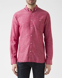 Knowledge Cotton Apparel Red Print Shirt