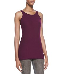 Donna Karan Petite Lightweight Stretch Knit Tank Berry Pink