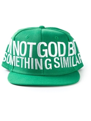 Ejxiii Embroidered Baseball Cap Green