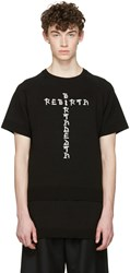 D.Gnak By Kang.D Black Jacquard Knit Rebirth T Shirt