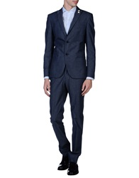 J.W. Tabacchi Suits Slate Blue