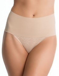 Spanx Undie Tectable Lace Thong Soft Nude