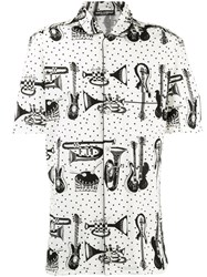 Dolce And Gabbana Printed Pyjama Shirt Nude Neutrals