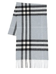 Burberry Giant Icon Cashmere Scarf Dusty Blue