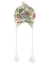 Gucci Floral Tapestry Baseball Cap White