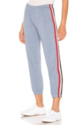 Spiritual Gangster Stripe Perfect Sweatpant Blue