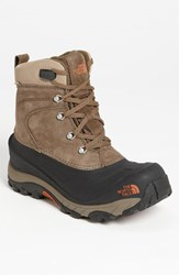 The North Face Men's 'Chilkat Ii' Snow Boot Mudpack Brown Bombay Brown