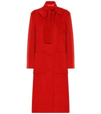Gucci Wool Coat Red
