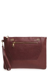 Sole Society 'Nolan' Oversize Faux Leather Clutch