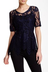 Tart Nicole Sheer Lace Top Blue