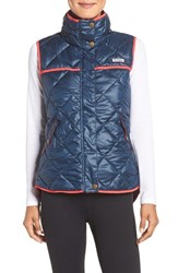 Columbia Women's 'Harborside' Water Repellent Vest Collegiate Navy Red
