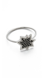 Kenzo Explosion Ring Black Silver
