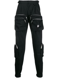 Represent Pocket Detail Trousers Black