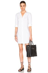 Frame Denim Poplin Shirt Dress In White