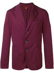 Barena Three Button Blazer Red